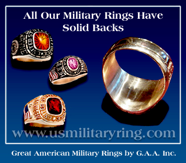 Solid Back Mi;litary Rings - G.A.A. Inc.