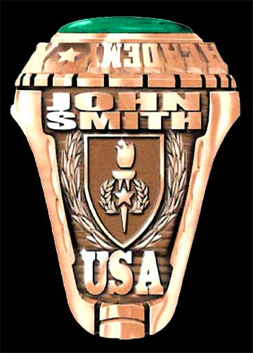 Sergeants Major Class Rings, Great American Military Rings by G.A.A. Inc.