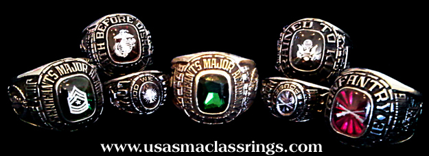 Sergeants Major Class Rings, USASMA Great American Military Rings by G.A.A. Inc.